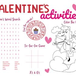Valentine's Activity Sheet Printable