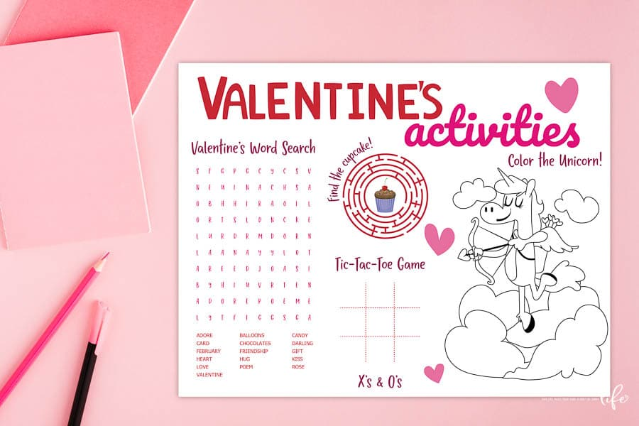 FREE Valentine's Activity Sheet