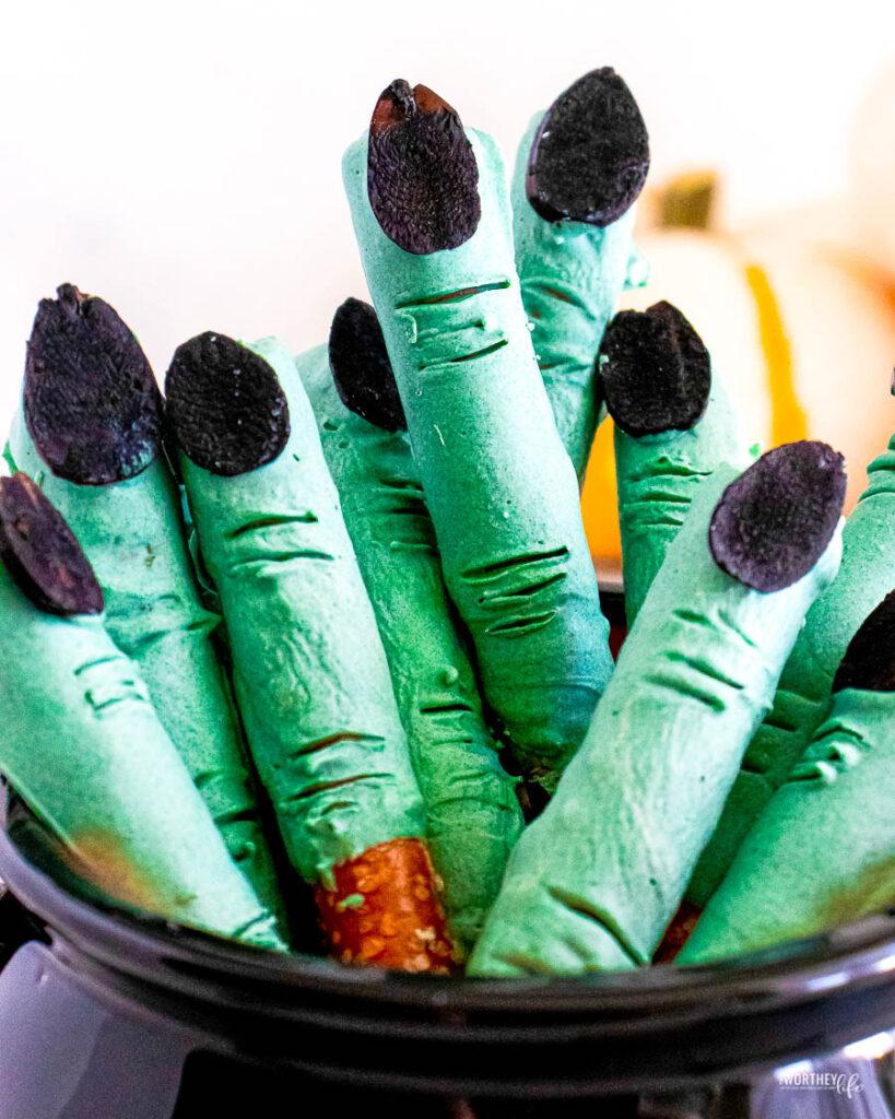 Witch Finger Pretzel Sticks