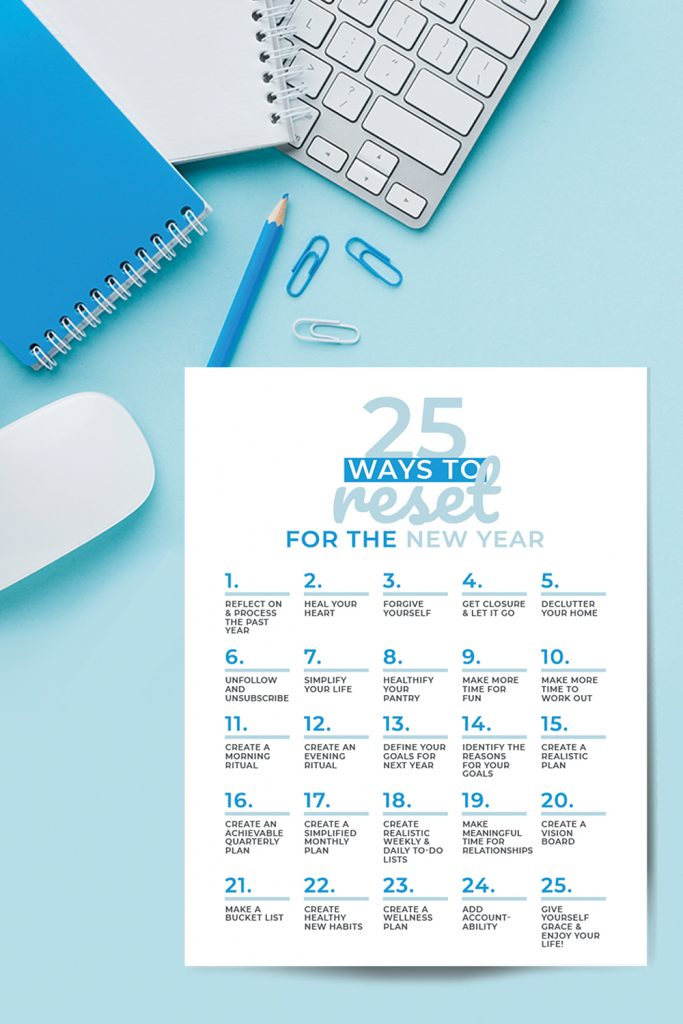 25 Ways To Reset For The New Year