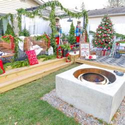 Christmas at The W | Christmas Patio Decor