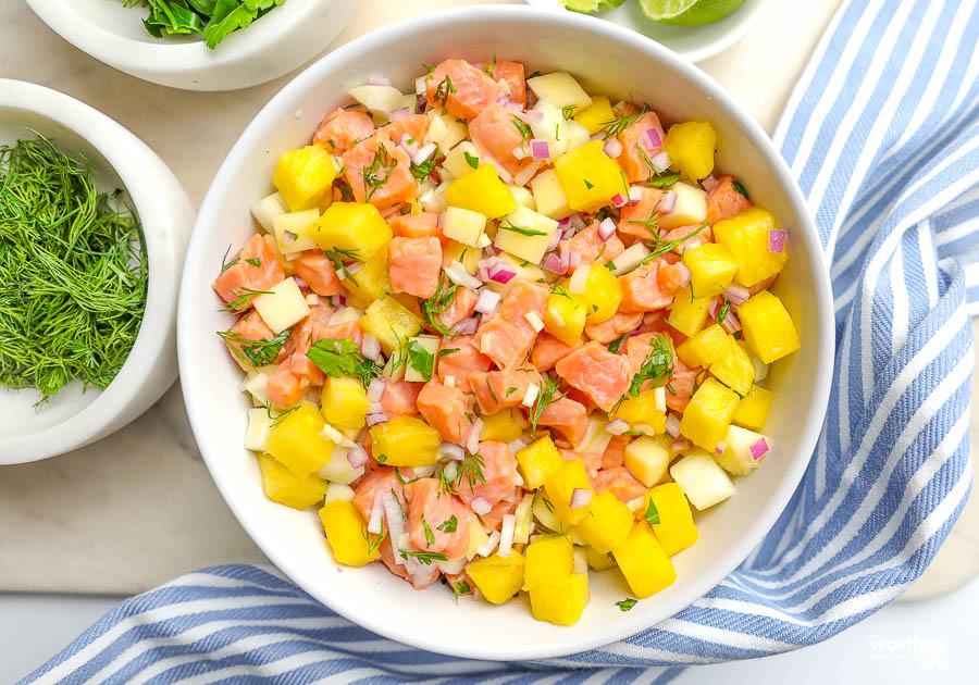 ceviche with salmon