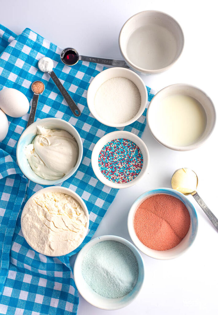 ingredients for a poke cake