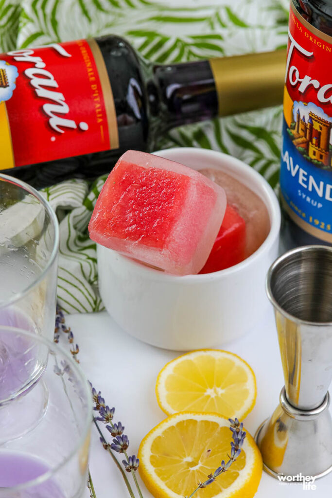 How to make Watermelon Infused Ice Cubes