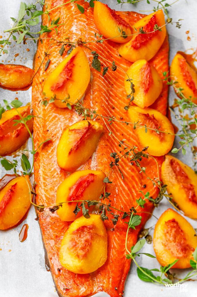 Brown Sugar Peach Salmon