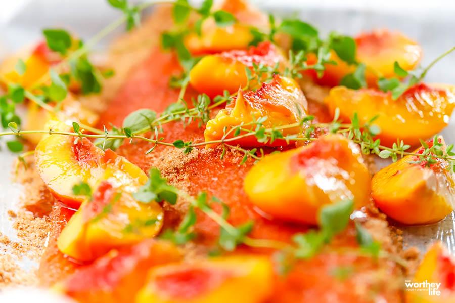 Brown Sugar Peach Salmon recipe