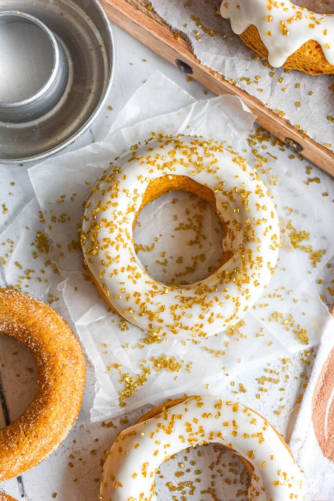 How to make the frosting for the pumpkin donuts