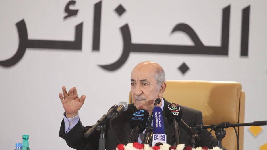 رئيس الجزائر عبد المجيد تبون