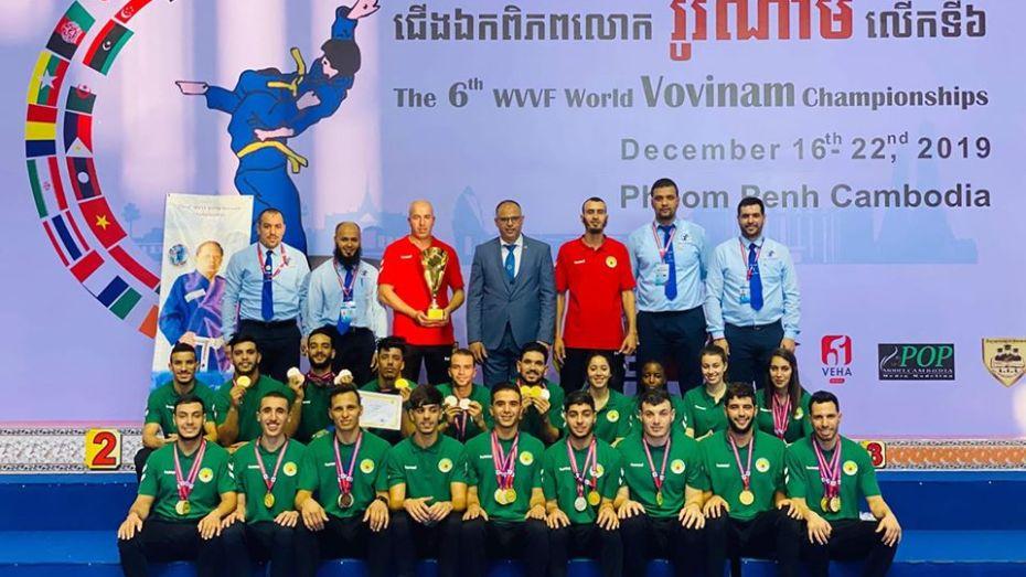 بالصور .. ميداليات بالجملة للمنتخب الوطني للفوفينام فيات فوداو
