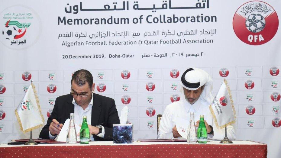 شراكة بين الاتحادين الجزائري والقطري