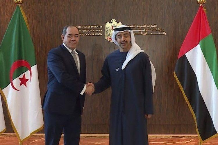وزير الخارجية الإماراتي بالجزائر وقضية الليبية محور النقاش الاهم
