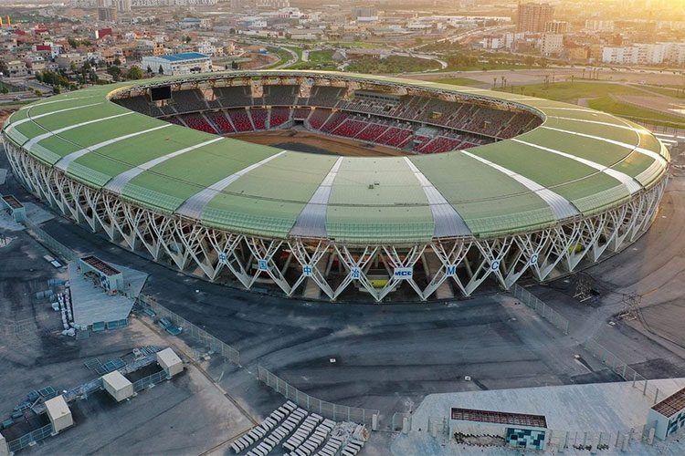 """بالصور  """"الفاف"""" تكشف جديد ملعب وهران الأولمبي"""