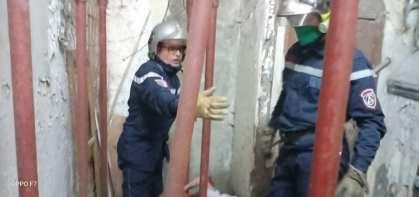 في وهران سقوط سلالالم الحماية المدنية قد تدخلت
