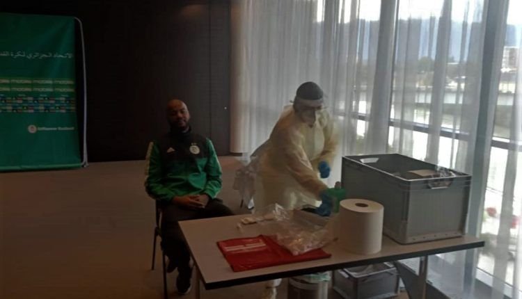 الخضر يخضعون لاختبار الكشف عن فيروس كورونا