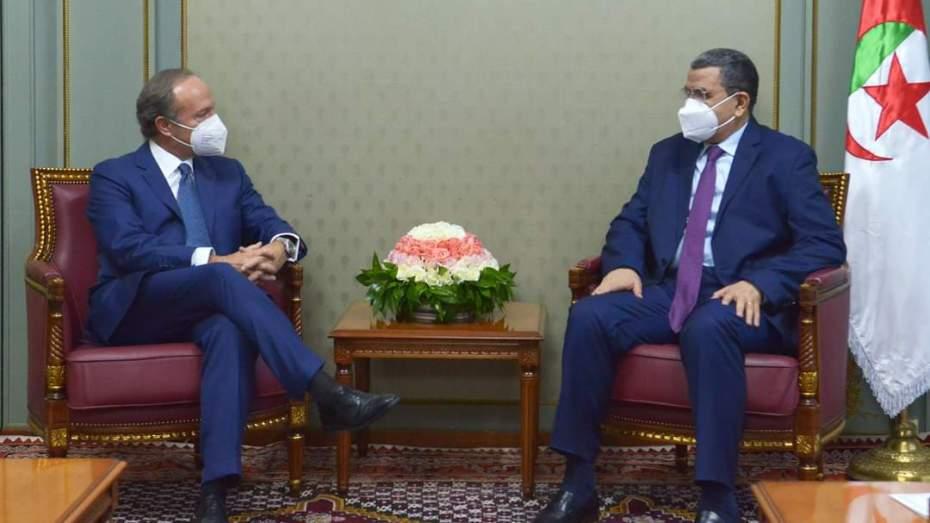 جراد يستقبل سفير إيطاليا بالجزائر