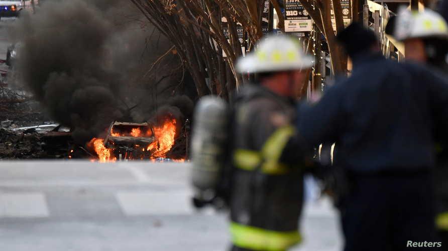 انفجار ضخم يهز مدينة ناشفيل الأمريكية
