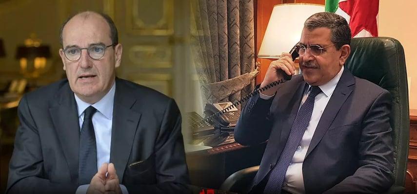 الوزير الأول يتحادث مع نظيره الفرنسي حول سبل توطيد التعاون بين الجزائر وفرنسا