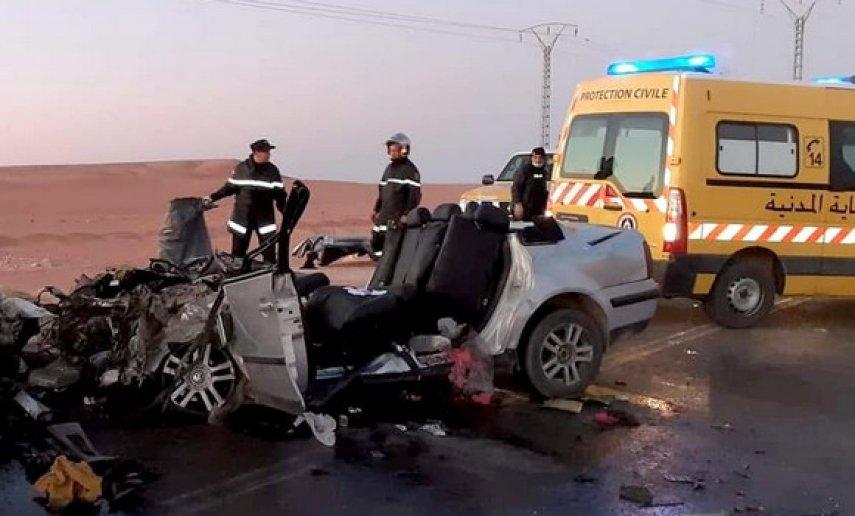 حادث مرور بإليزي يخلف 15 جريحا اثنين في حالة خطيرة