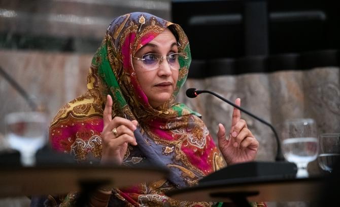 أمينتو حيدار تدعو المجتمع الدولي لتحمل مسؤولياته اتجاه الصحراء الغربية