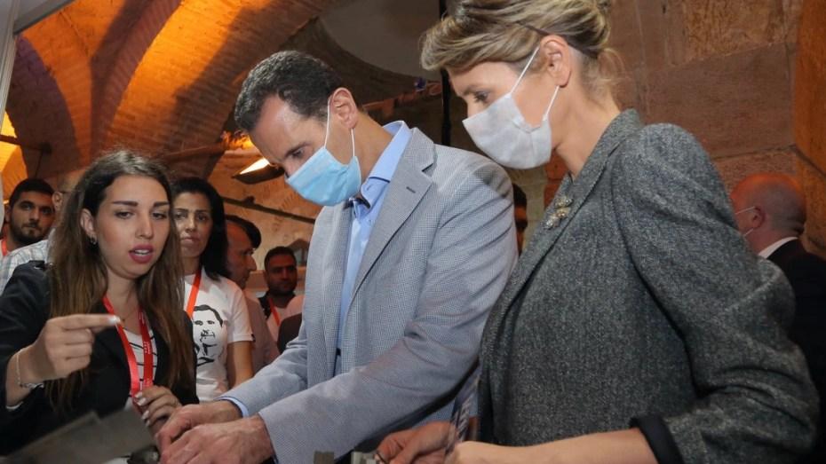 إصابة بشار الأسد وزوجته بفيروس كورونا المستجد