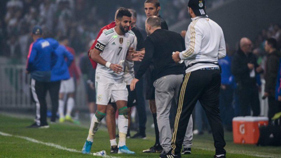 بلماضي يكشف تفاصيل حواره مع محرز بعد نهاية مباراة كولومبيا