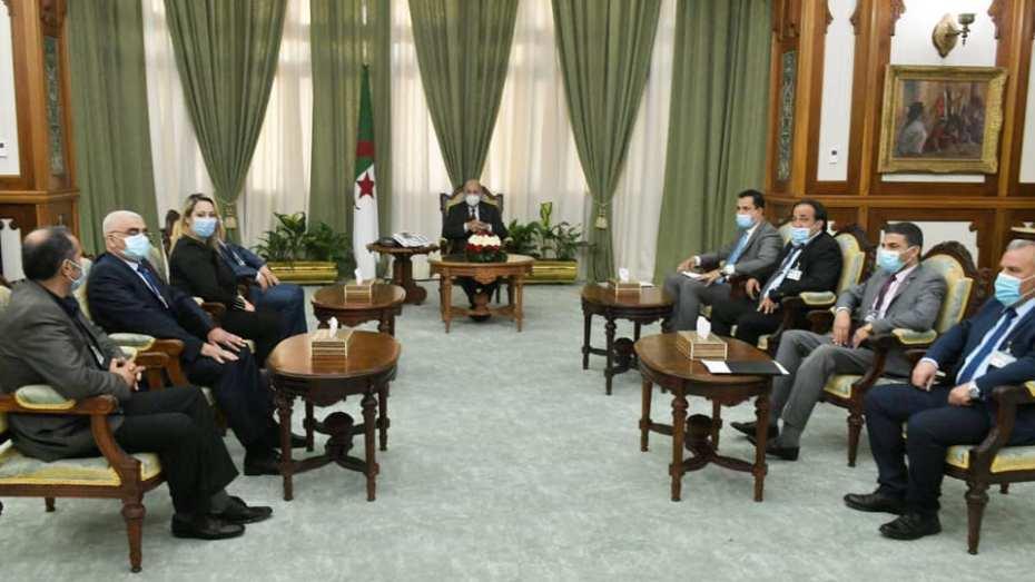 رئاسة: تبون يستقبل ممثلين عن المجتمع المدني