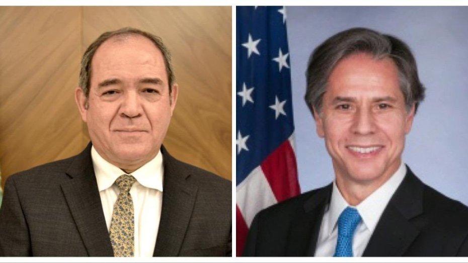 بوقادوم يبحث مع بلينكن تقوية العلاقات بين الجزائر والولايات المتحدة