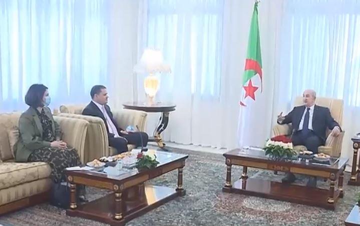 الرئيس تبون يستقبل رئيس الحكومة الليبية