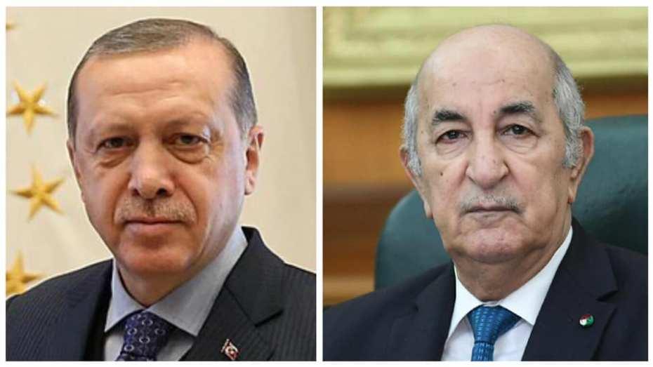 تبون يتلقى مكالمة هاتفية من أردوغان