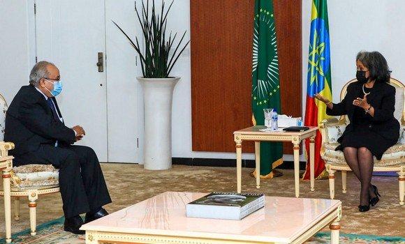 لعمامرة يستقبل يناقش هذه المسائل مع رئيسة إثيوبيا
