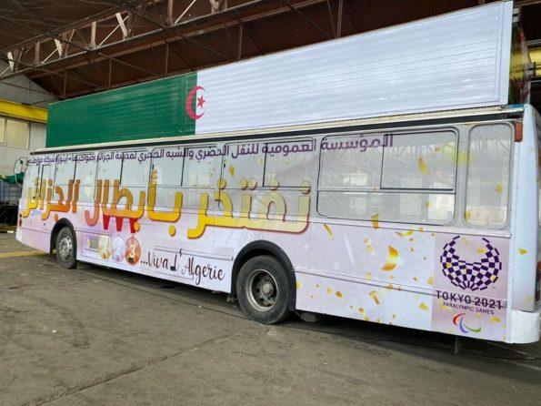 شاهد.. الحافلة المخصصة لاستقبال أبطال الجزائر في الألعاب البارالمبية
