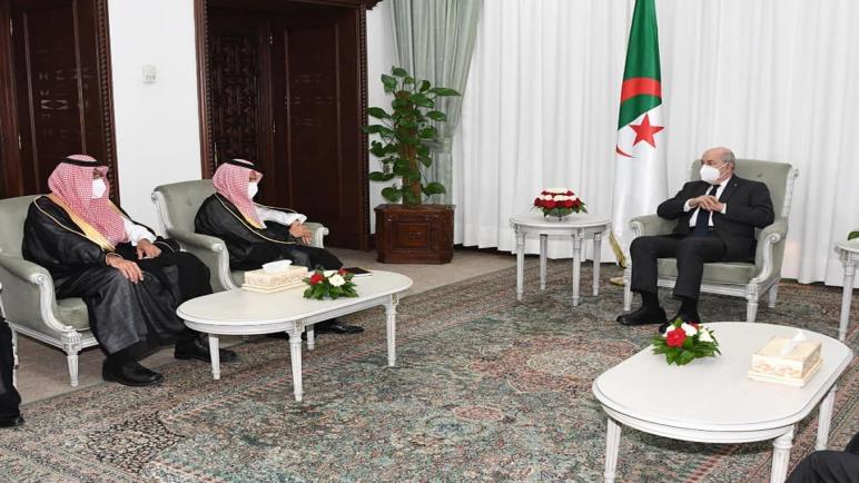 تبون يستقبل وزير الخارجية السعودي