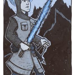 Luck Skywalker fan art as a knight