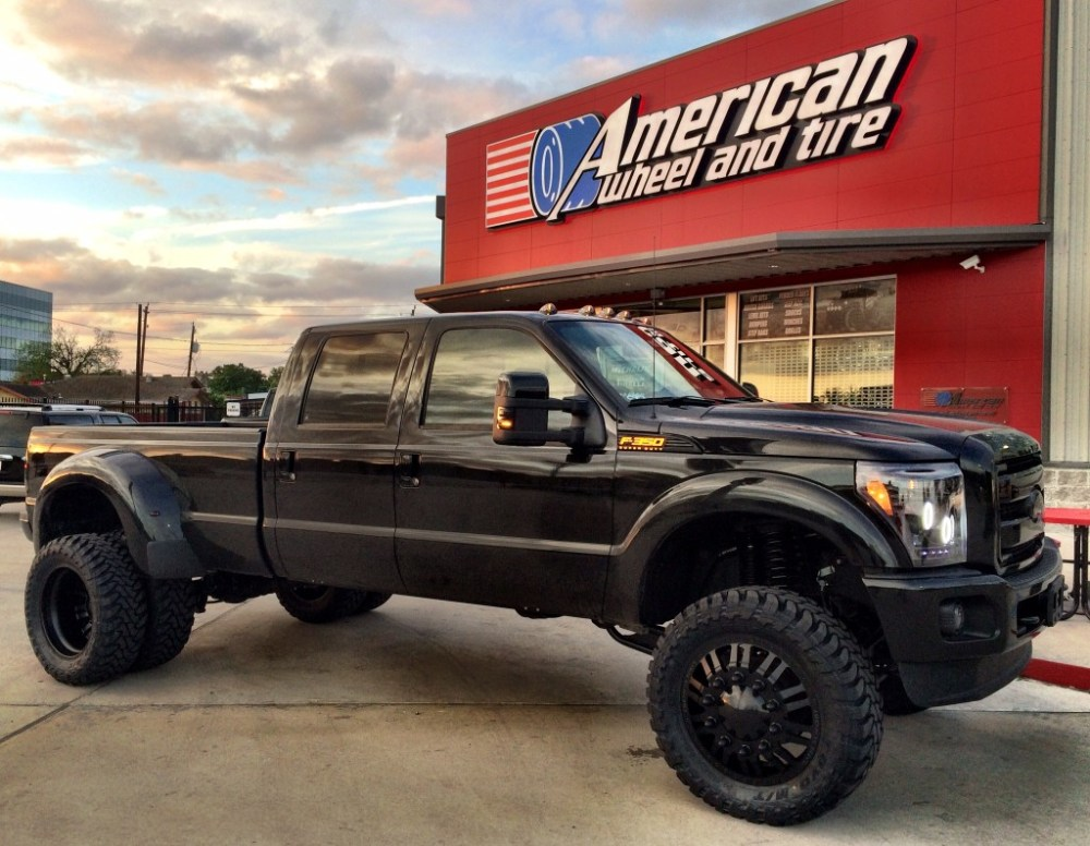 medium resolution of american force freedom dually wheels in black on a ford f350