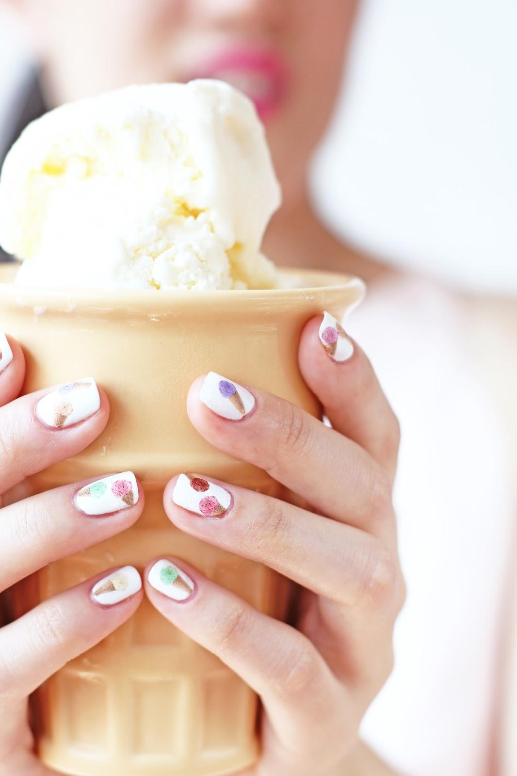 Diy Ice Cream Cone Nail Decals Printables