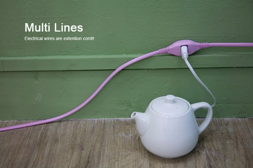 Multi Lines Extension Cord