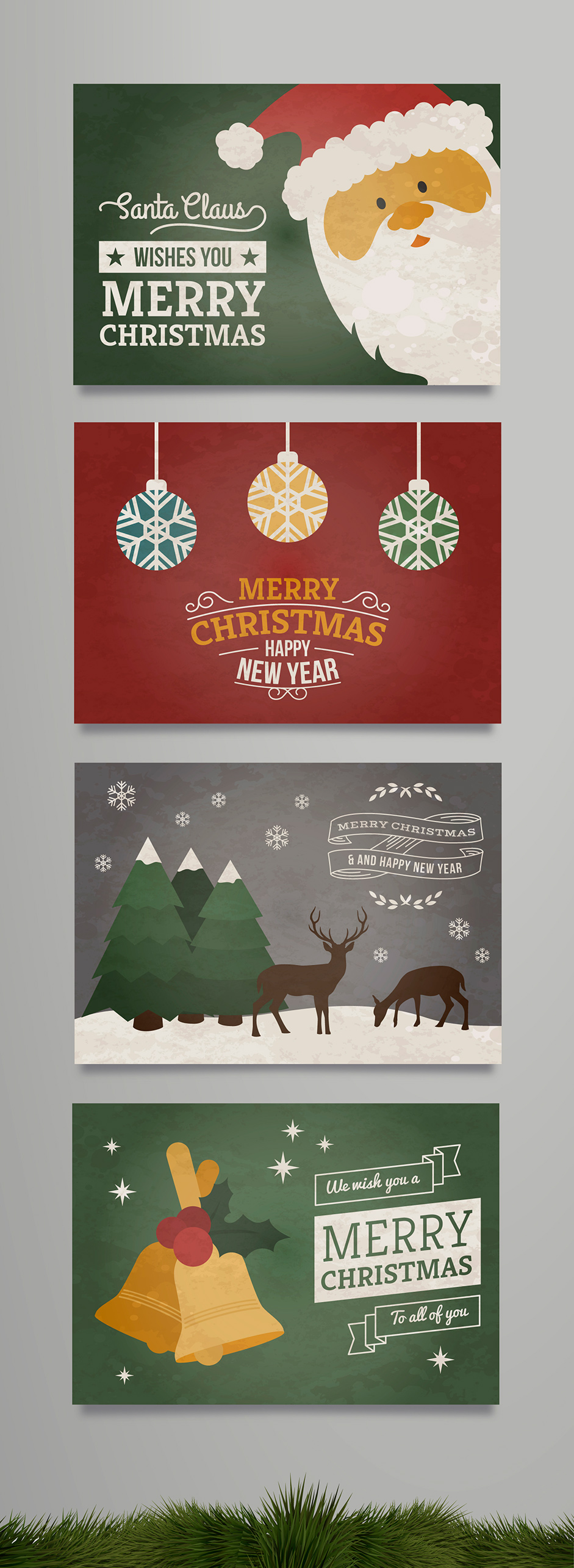 10 New Xmas Cards From Freepik And More Free Resources For