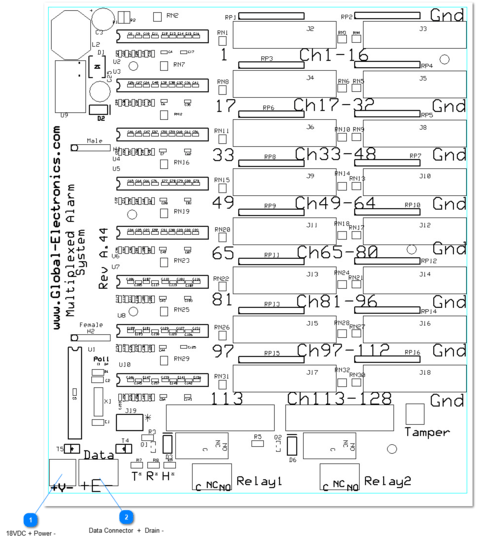 Mux/Remote Power & Data Wire Diagram