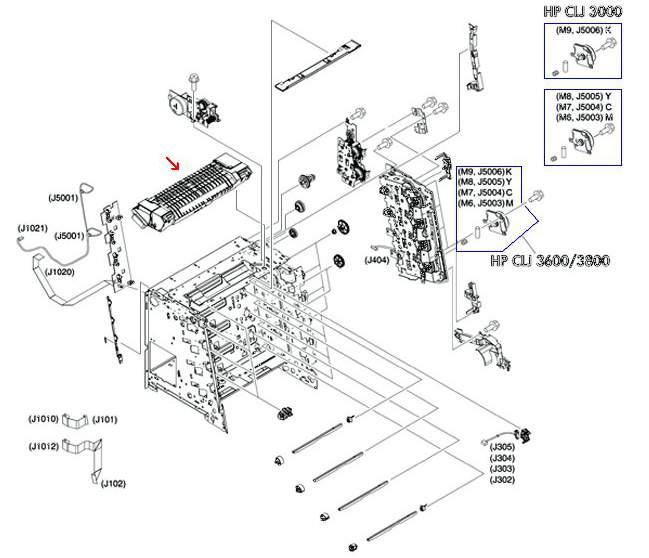 HP Fuser Unit RM12764020CN Laserjet 2700/3000/3600/3800