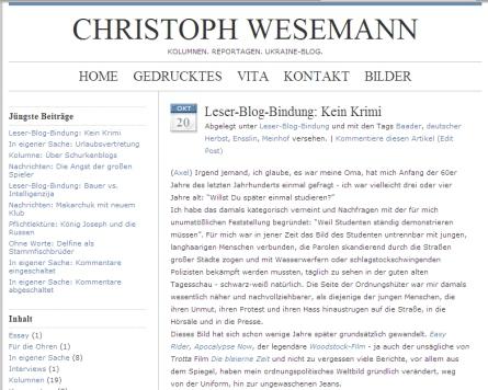 Das Weblog von Christoph Wesemann