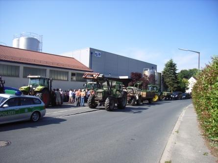 Traktorblockade in Simmelsdorf