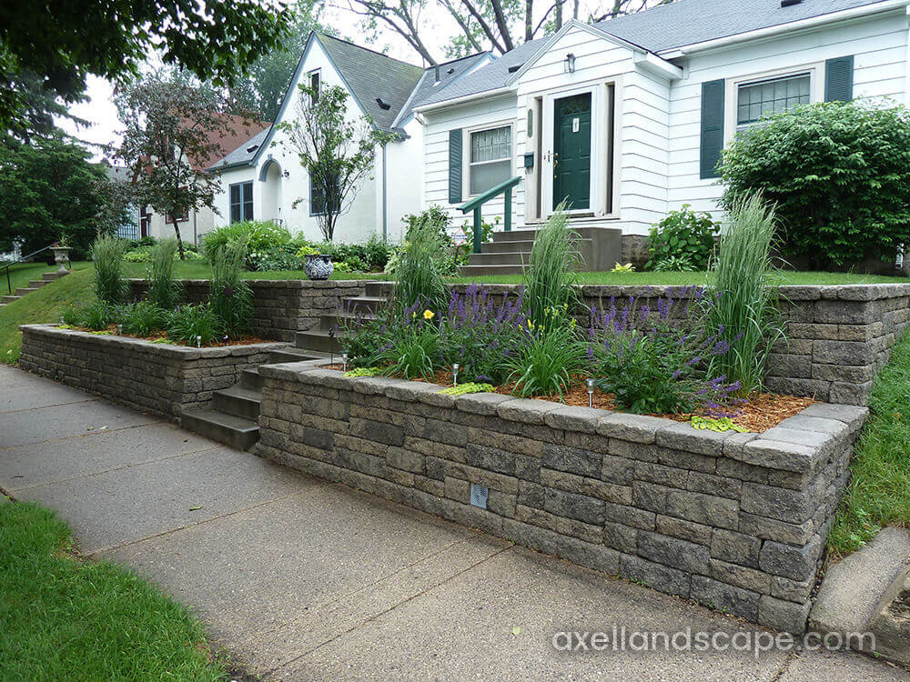 Terraced Retaining Wall