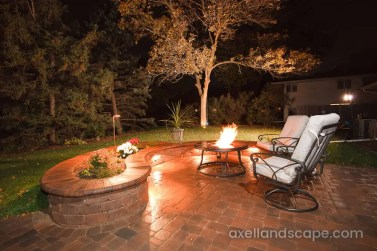 Golden Valley Paver Patio Firepit