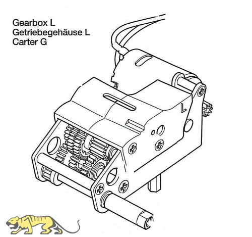 Gearbox L for Tamiya Panther Series (56022 and 56024) 1:16