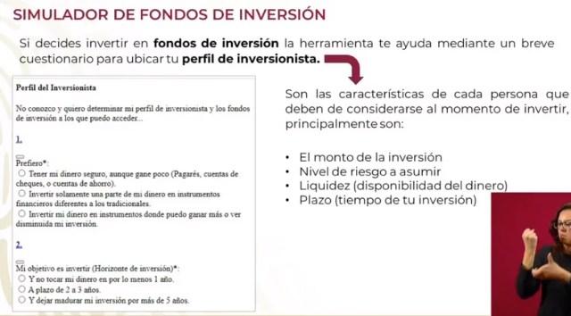 Simulador de fondos de inversión de la condusef