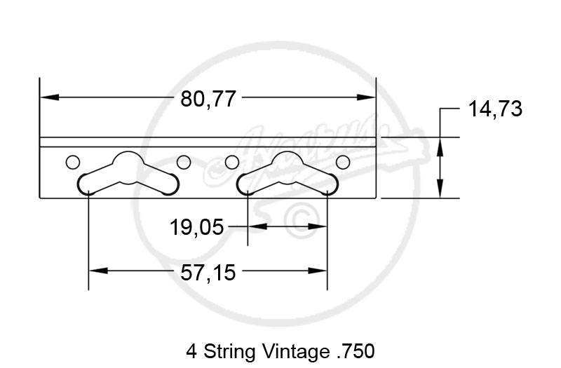 Hipshot Vintage Bass Bridge