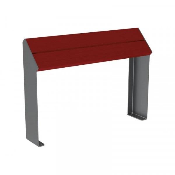 banc assis debout en bois et acier