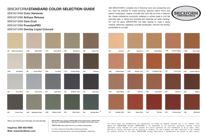 Solomon Concrete Color Chart Siteandsite