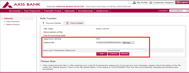 Axis Bank Credit Card Payment Through Other Debit | Applycard co