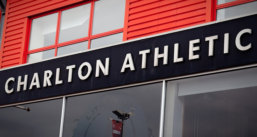Sign outside Charlton Athletic's stadium